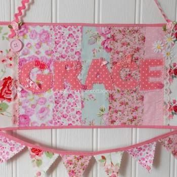 Personalized nursery door sign photo prop baby shower gift